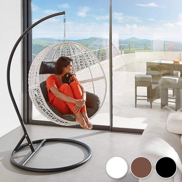 Yapısı olan bir asma sandalye