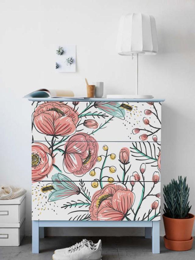 IKEA mobilyaları için yapışkan vinil