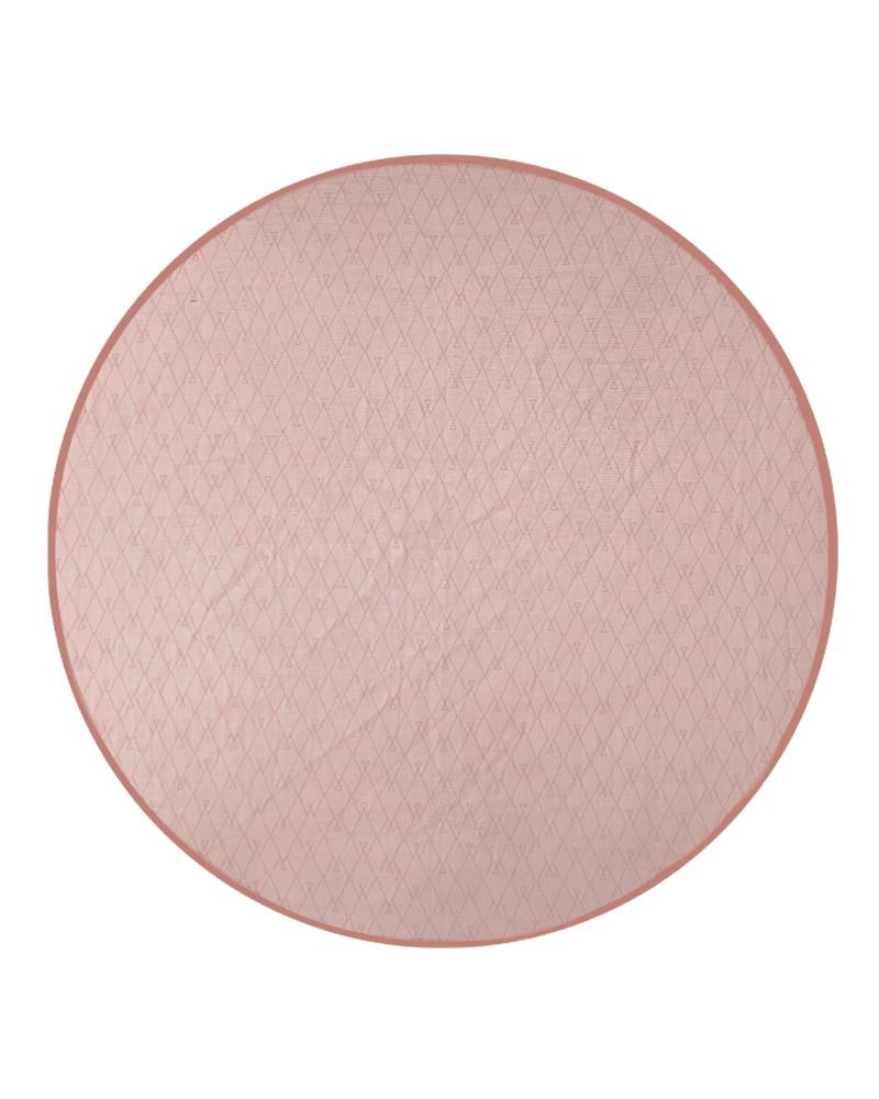 tapis de jeu rond de couleur rose milinane