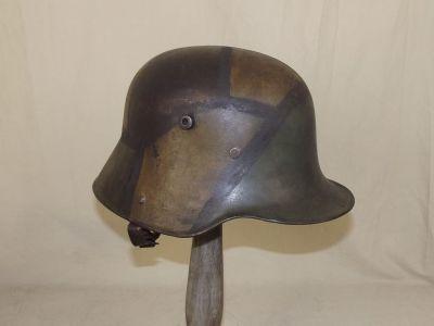德国钢盔M1916,漆面漆,1918年
