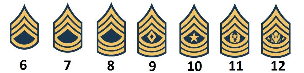 Master Sergeant Unteroffizierslaufbahn Military Rank Dienstgrad Tasse #27577