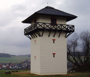 Upper German Limes: reconstructed watchtower in the Taunus