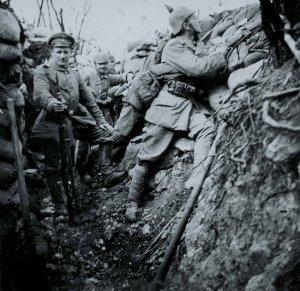 المشاة الألمانية في الخندق