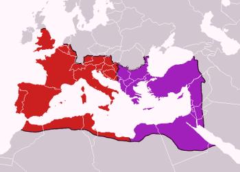 Die Teilung des römischen Reiches von 395