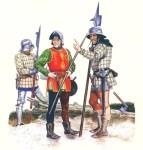 Englische Infanterie im Hundertjährigen Krieg