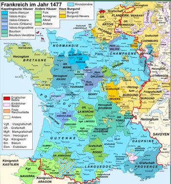 Frankreich nach dem Ende des Hundertjährigen Krieges