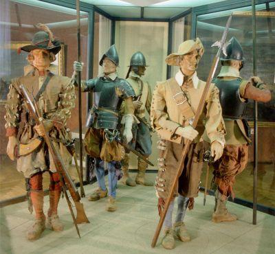 三十年战争时期的火枪手和长枪兵