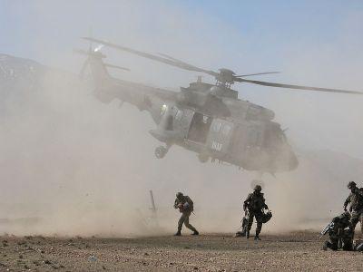 外国军团的士兵在行动