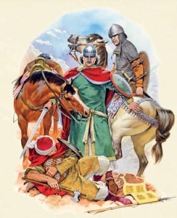 Spanische Soldaten während der Reconquista
