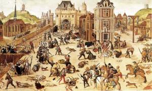 Кровавая Варфоломеевская ночь 1572, нарисованного Франсуа Дюбуа (1529-1584)