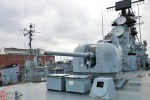 Heckgeschütz eines Kriegsschiffes