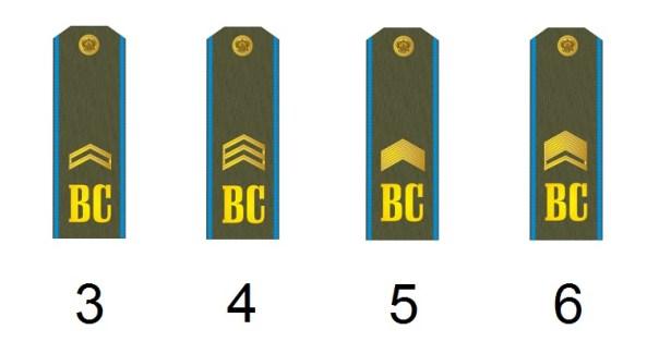 Russische Unteroffiziersdienstgrade Luftwaffe