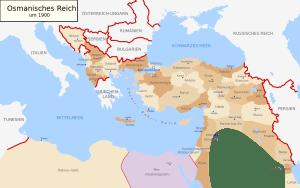 Das osmanische Reich um 1900