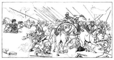 Dareios Flucht nach der Niederlage seines Heeres