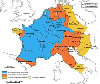 Die Eroberungen Karls des Großen
