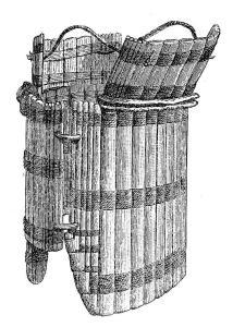 Panzer der Tlingit-Indianer aus Holz- oder Knochenplatten und Stäbchen