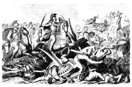 亚历山大大帝和波斯人之间的战斗