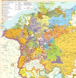 Karte dreißigjähriger Krieg