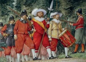 17世纪的瑞典步兵