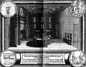 Negoziati di pace di Rijswijk 1697 (incisione contemporanea su rame)