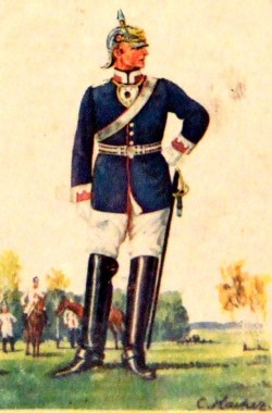 Kürassier-Regiment Königin Nr. 2 (Leutnant im Dienstanzug)