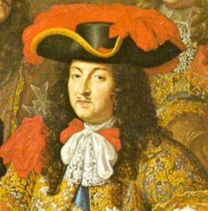 Ludwig XIV. 1667 auf einem Gemälde von Henri Testelin
