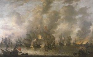 Seeschlacht bei Scheveningen am 10. August 1653