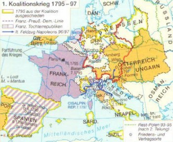 1. Koalitionskrieg von 1795 bis 1797