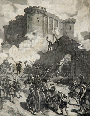La tempête sur Bastille le 14 juillet 1789