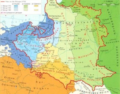 Die Teilung Polens im 18. Jahrhundert