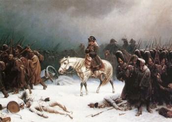 Наполеон на отходе из России (картина Адольфа Нортерна)