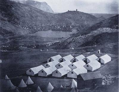 Армейский лагерь при Балаклава, фотографии Джеймса Робертзона и Феличе Беато