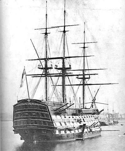 La HMS Victory nel 1884