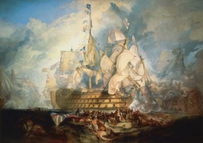 La Victory nella battaglia nella battaglia di Trafalgar