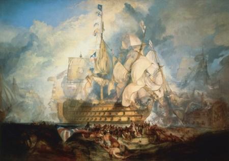 Die Victory im Gefecht in der Schlacht von Trafalgar