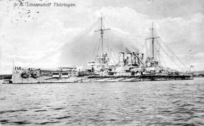 Cartolina contemporaneo del SMS Thüringen