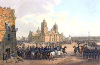 Случай Мехико. Картина Карла Небеля, в 1851