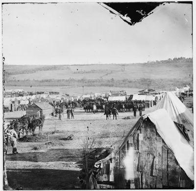 Lager einer Kavallerie Einheit