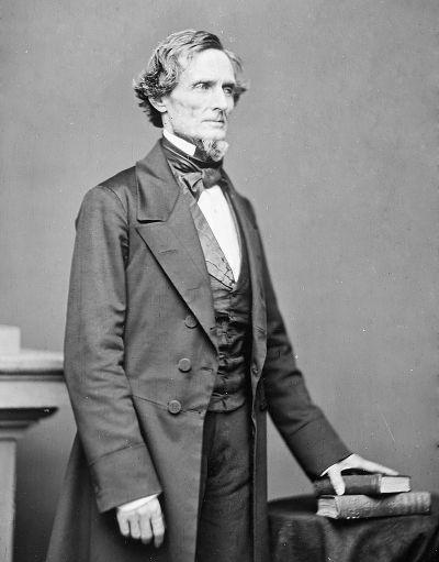 L'opposant de Lincoln, Jefferson Davis, président des États confédérés d'Amérique