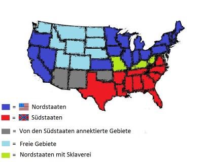 Panoramica politica degli Stati nella guerra civile
