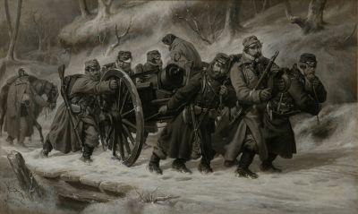 1864年2月5日至6日,丹麦军队从戴恩工作撤退