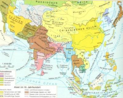 亚洲在18世纪
