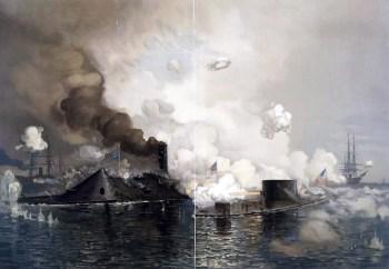 La battaglia tra la CSS Virginia e la USS Monitor