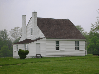 Das Haus in Guinea Station, Virginia, in dem Jackson starb