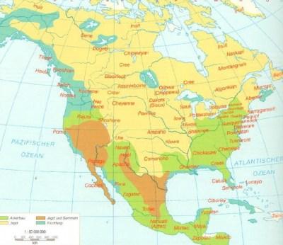 Индейское население Северной Америки в 1700