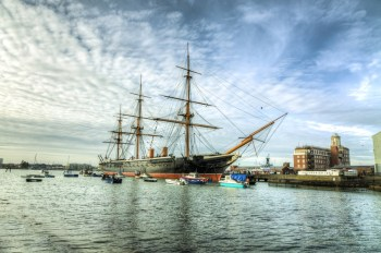 HMS Warrior come nave museo a Portsmouth