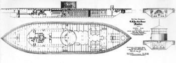 Illustrazione di costruzione di USS Monitor