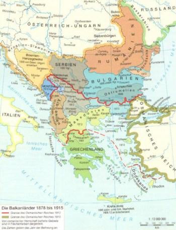 Los Balcanes hasta 1915