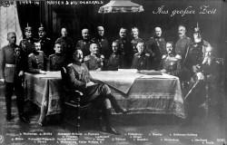 Император Вильгельм II в кругу немецких генералов