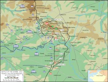 地图索姆河之战